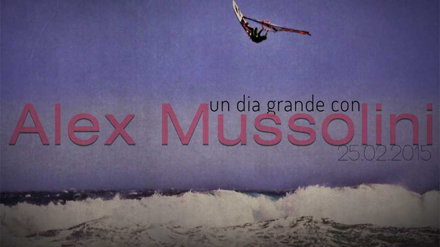 Alex Mussolini windsurfing on Tenerife