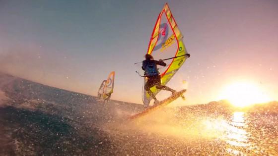 Konstantin Smirnov's windsurfing action in Egypt 2015.