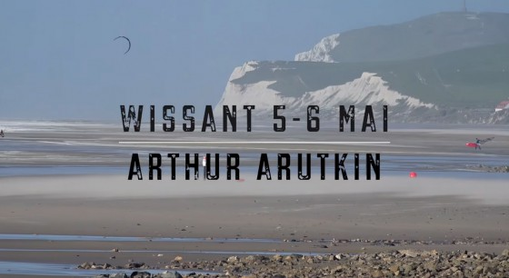 Arthur Arutkin at Wissant in waves