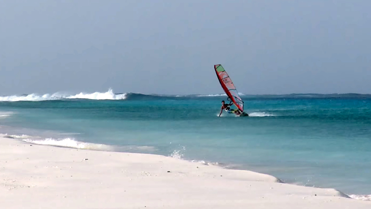 Klein Curacao flat water section