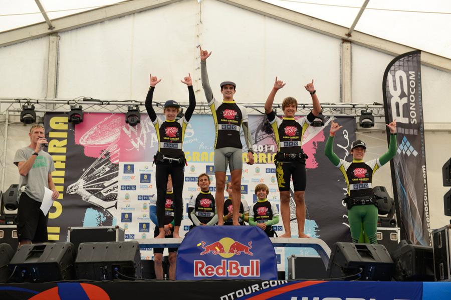 The juniors on the podium in 2014