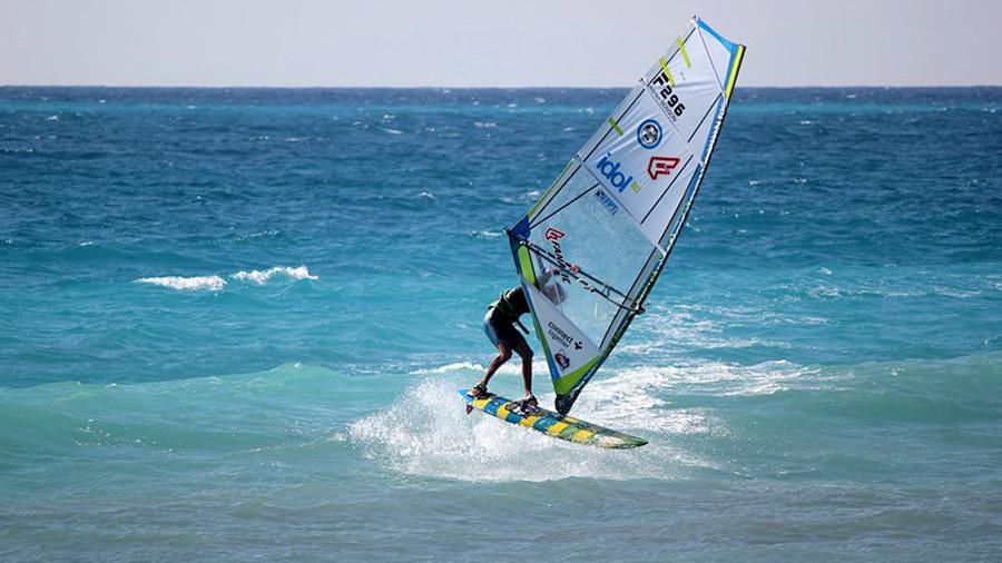 Adrien Bosson at Milos Beach (Pic: EFPT 2015)