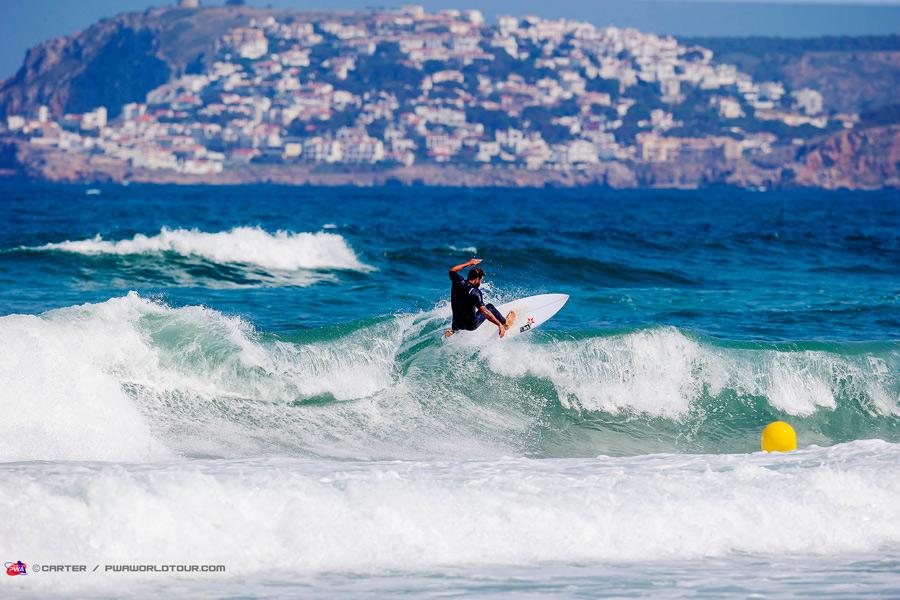 Ross Williams has fun in the surf (Pic: Carter/PWA)