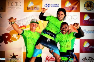 The top three at the EFPT Lanzarote