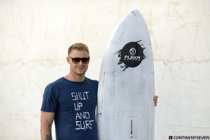 Kenneth Danielsen with his new board