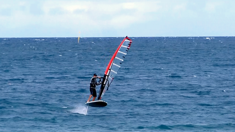 Windfoiling action at Noumea 2015