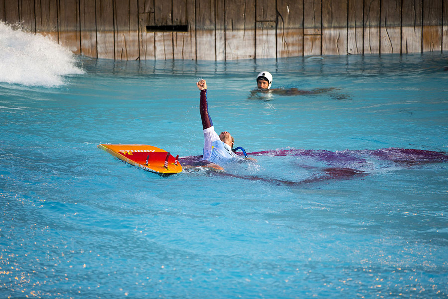 Adam Lewis is happy  about his Siam Park performance (Pic: Carter/PWA)