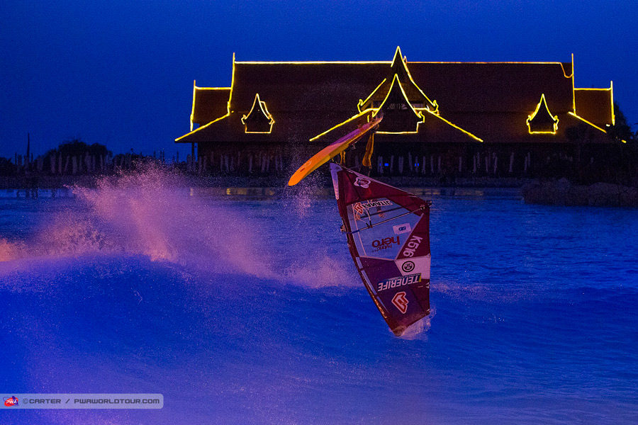 Adam Lewis enjoyed the late night show in the Siam Park (Pic: Carter/PWA)