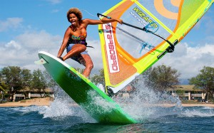 Sarah-Quita Offringa tests the new 2016 Flare on Maui