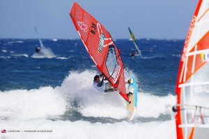Dieter van der Eyken advances through the trials - PWA Worldcup Tenerife 2015
