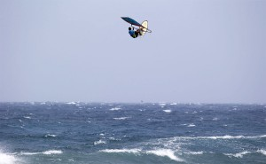 Philip Koester high up in the sky (Pic: Carter/PWA)