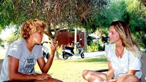 Senada Sokollu interviews Sarah-Quita Offringa at Alacati beach (Pic: Ozan Pektas)