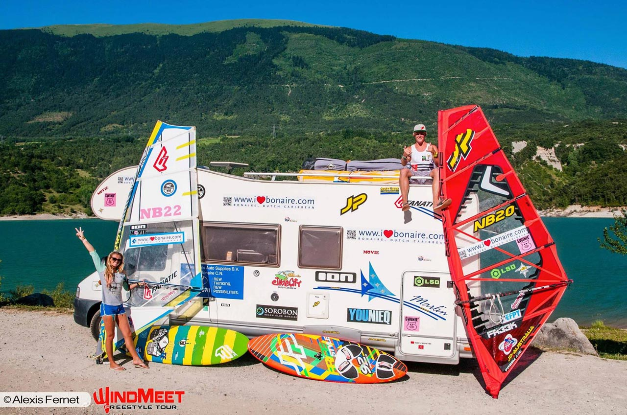 Maxime and Amado and their caravan
