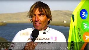 Antoine Albeau smashed his old record by 1.22 knots to 53.27 knots