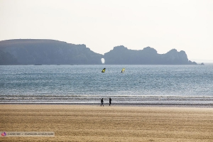 Windsurfing in the bay of Crozon