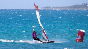 Pierre Mortefon on title course after day 2 (Pic: Carter/PWA)