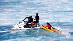 Nayra getting rescued - Pic: John Carter/PWA