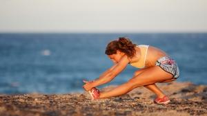 Caterina Stenta has a good stretch (Pic: Roland Bos)