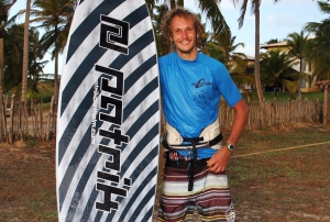 Adi Beholz and his new board in Brazil