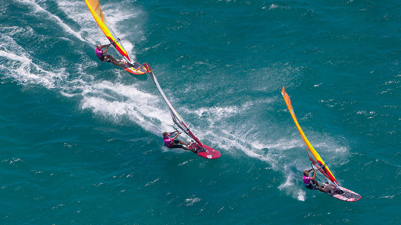 Antoine loves to go fast and lead the fleet on the course (Pic: Carter/PWA)