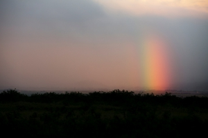 Kevin Pritchard sends a rainbow from Maui