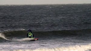 Lars Petersen with a Bottom turn at Middles, Denmark