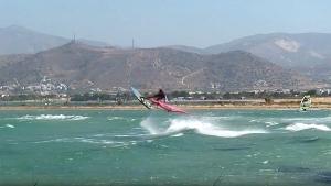 Stam Promponas windsurfing at Naxos, Greece