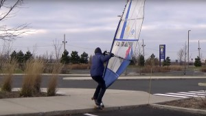 Guy Trudeau on his new windskater