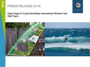 Klaas Voget joins NorthSails in 2016