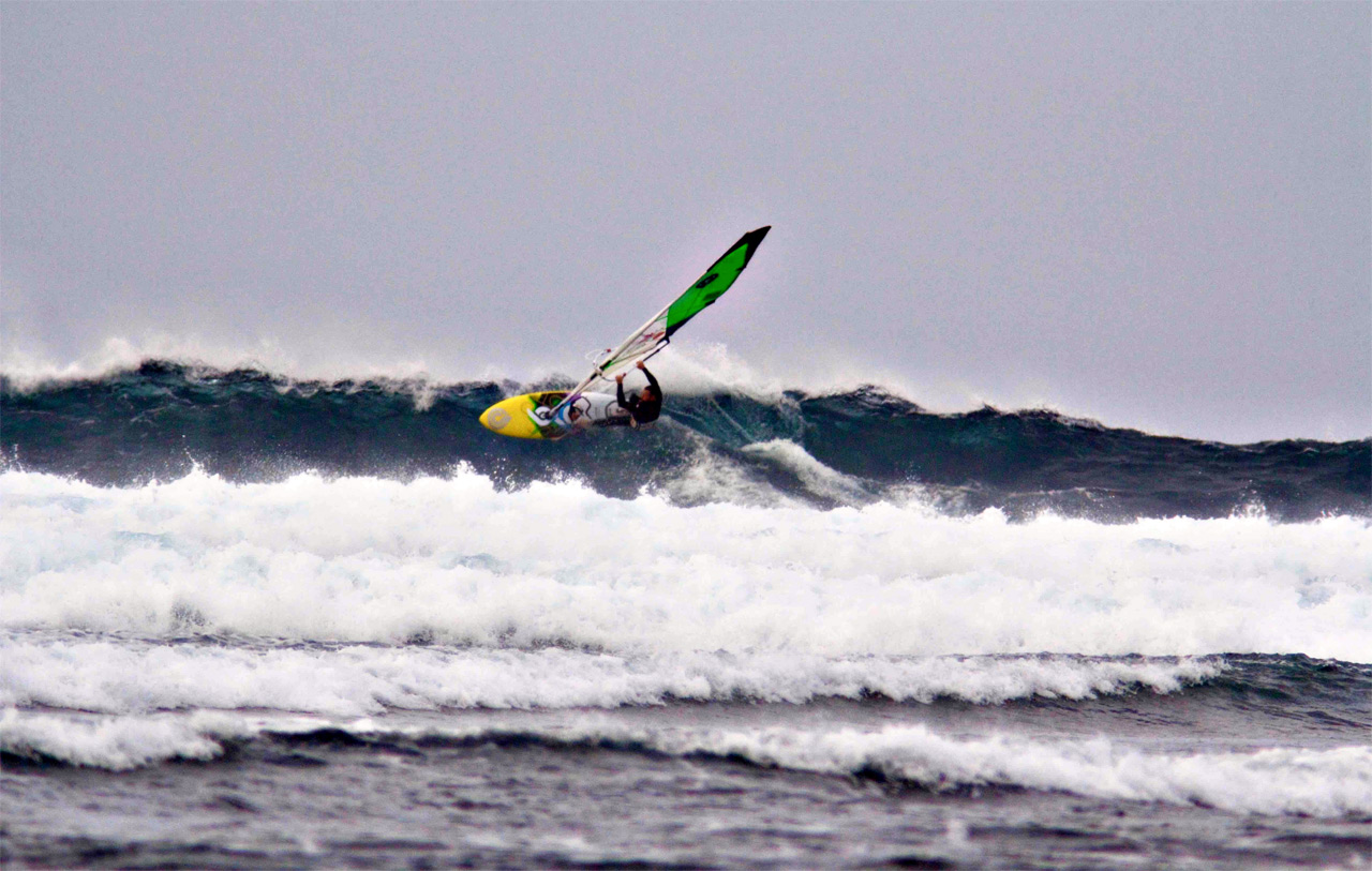 WeshWesh in waves at Fuerteventura's North Shore