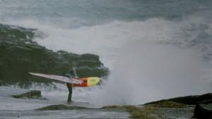 Dany Bruch windsurfs at Faroe Islands