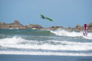 Backloop action at Dossen (Pic: Jerome Auffret)