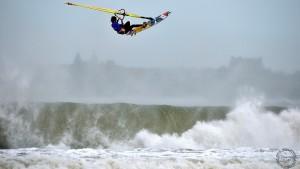 Thomas Traversa with a lot of air under his fresh board design (Pic: Eric Bellande)
