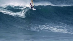 Thomas Traversa in big waves at Cabo de Higuer