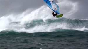 Victor Fernandez in Kona winds in Maui