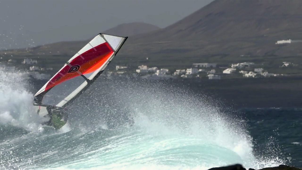 Lanzarote with waves