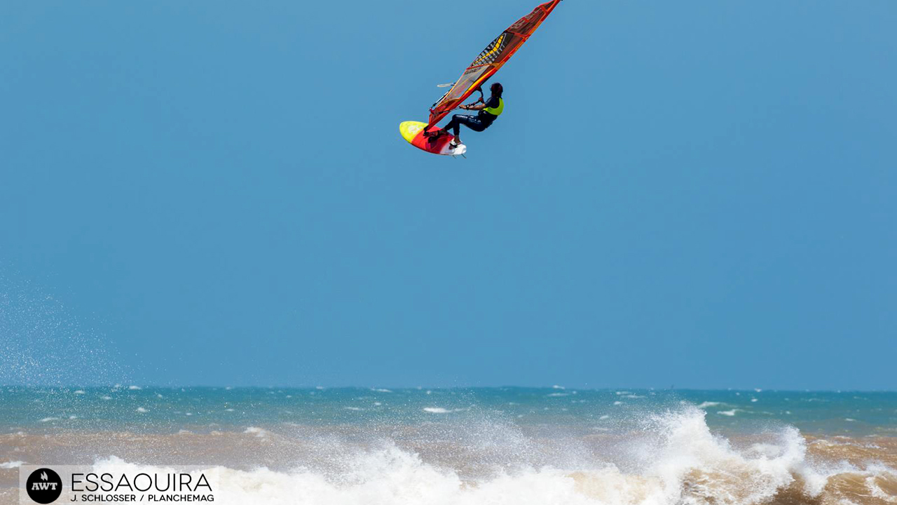 Boujmaa Guilloul flies high at his home spot Moulay Bouzerktoune in Morocco (Pic: Schlosser/ Planchemag/AWT)