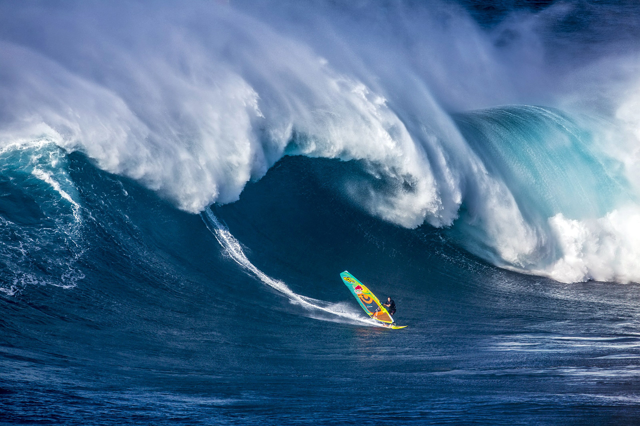 Jason on a big wave at Jaws Pic: RedBull