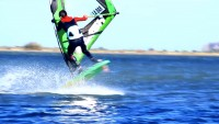 Baptiste Mure with freestyle action in Leucate
