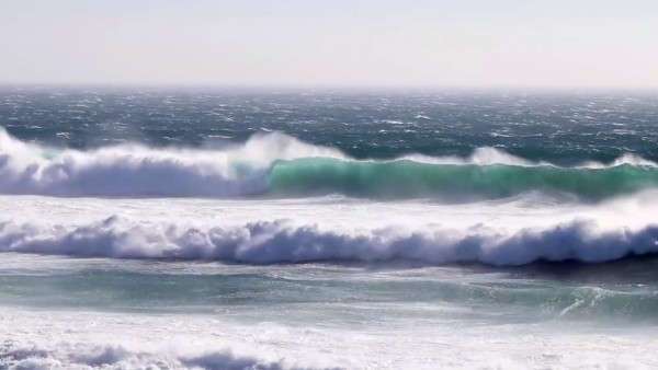 Guincho, Portugal with big waves