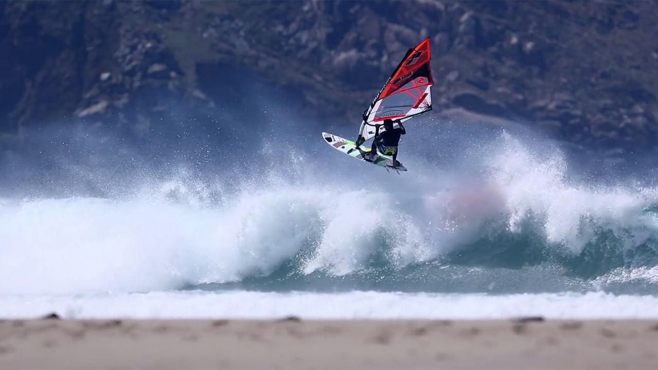 Wave action in Galicia, Spain