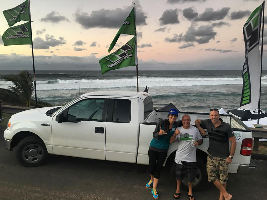 Sam Bittner, Cesare Cantagalli and Richard Page in Maui during the 2016 NoveNove Aloha Classic