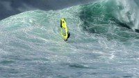 Camille Juban in waves in Maui