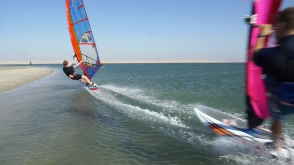 Marin David with freestyle action in Dakhla 2016