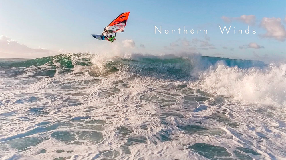 Northern winds – Windsurfing by drone
