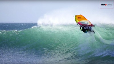 Brittany 2017 windsurfing in waves