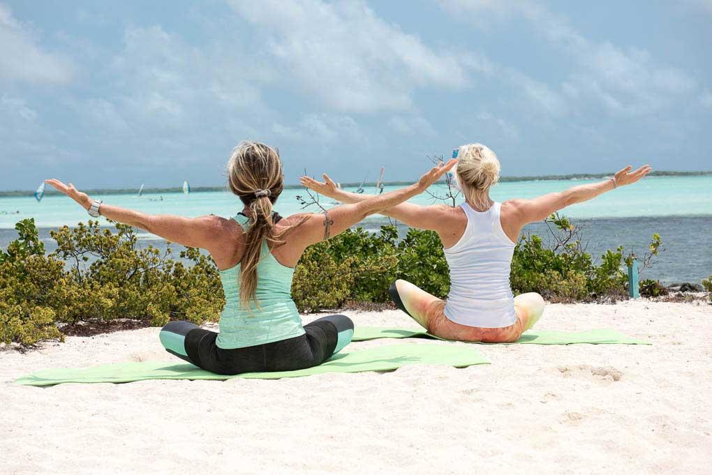 A yoga session on Bonaire
