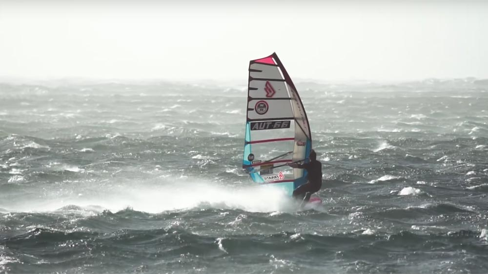Stormy windsurfing in El Medano