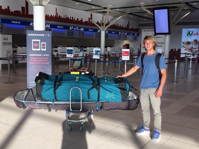 Riccardo Marca on the airport