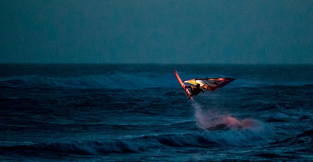 Lars Petersen jumps in the dark (Photo: Mark Wengler)